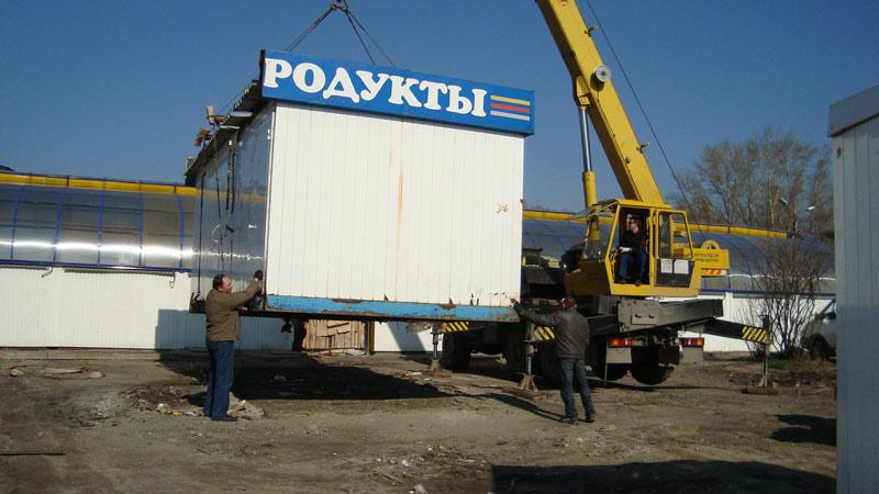 В Вологде сносят незарегистрированные торговые точки