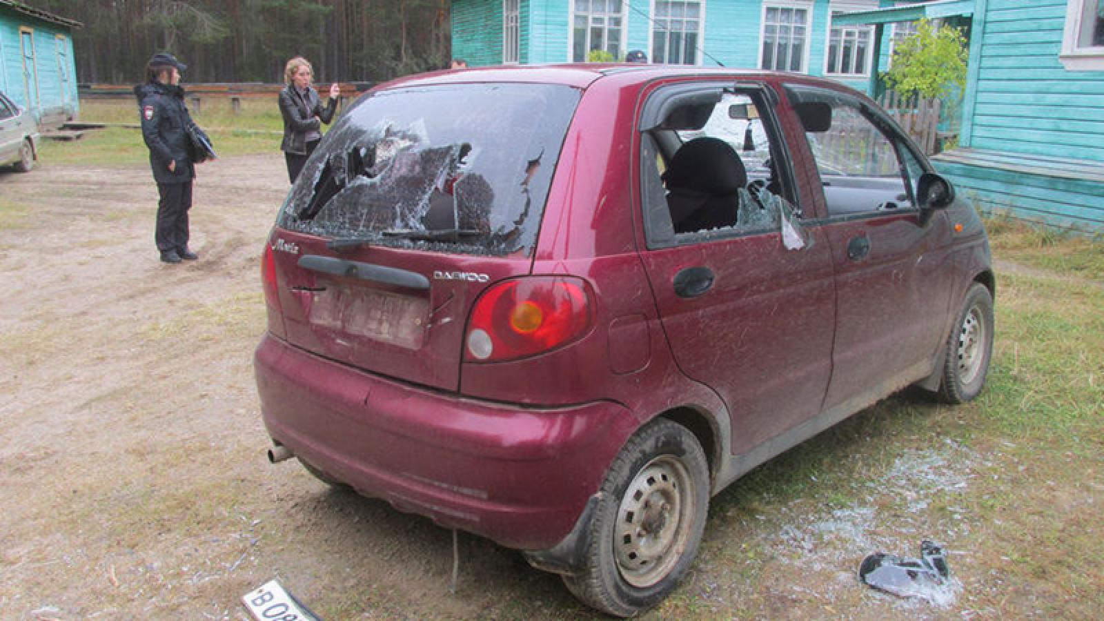 Мужчине, который изрубил топором машину директора школы, вынесен приговор