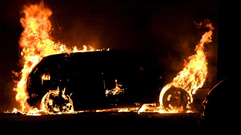 Иномарка горела сегодня утром в Вологде