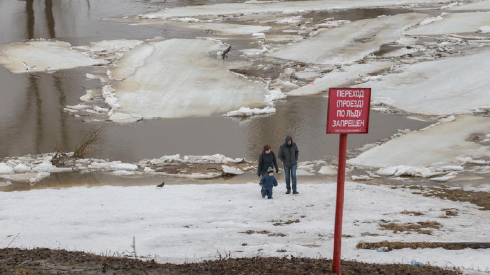 Выход на лед полностью запрещен в Вологодской области