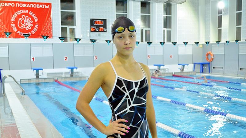 Устюжанка Карина Залесова установила новый рекорд области по плаванию