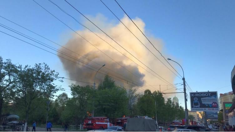 Вчера в центре Вологды вспыхнули два дома