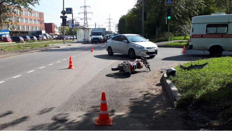 Мотоциклист пострадал в результате ДТП в Череповце