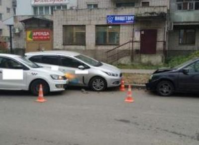 Таксист заснул за рулём и попал в ДТП