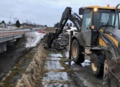 Ход работ на дороге Вологда – Молочное