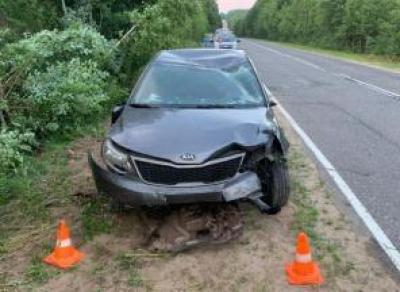 Автоледи травмировала себя и пассажирку
