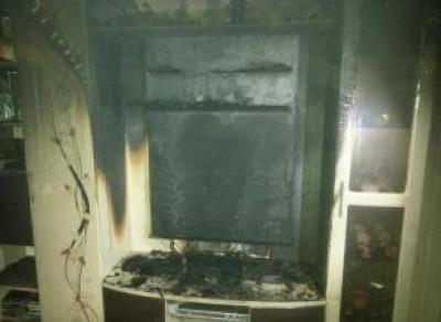В Череповце из-за телевизора чуть не сгорела квартира