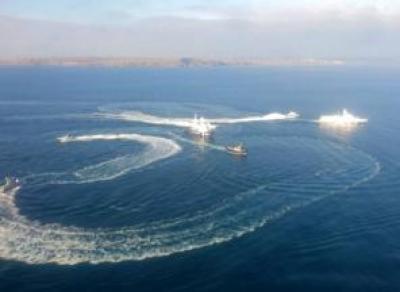 Три корабля ВМС Украины вчера пересекли российскую границу