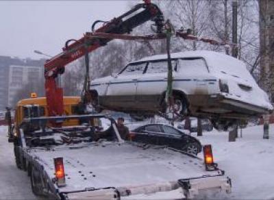 В Вологде машины, мешающие уборке снега, будут эвакуировать