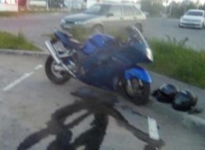 На ул. Конева сбили мотоциклиста