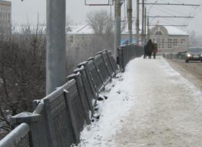 В Вологде деформировалось ограждение Горбатого моста