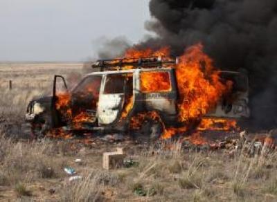 Мужчина сжёг пенсионера за вмятину на машине