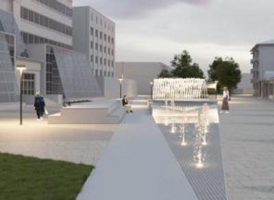Вологжанам показали проект площади с фонтаном