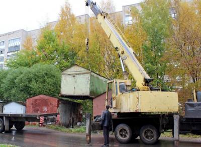 В Вологде снесли самовольно установленный гараж