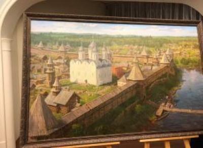 Художник показал, как выглядела Вологда в 1640-е годы