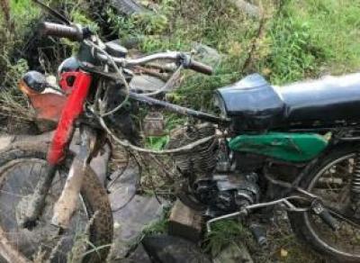 Малолетний гонщик на мотоцикле не справился с управлением и серьёзно пострадал