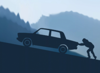 В Череповце ночью задержали пьяного угонщика, толкавшего машину перед собой
