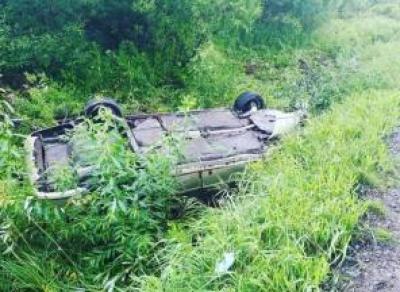 Пьяная автоледи травмировала пассажира