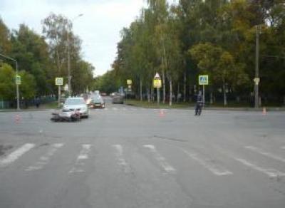 В центре Вологды сбили мотоциклиста