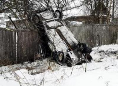 Подростки перевернулись на машине в Харовске
