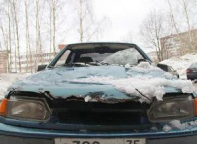 От перемены погоды на Вологодчине страдают автомобили