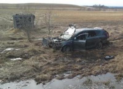 Автомобиль «Киа» вылетел в кювет в Шекснинском районе