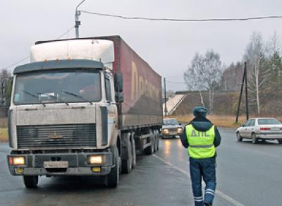С 11 апреля в областной столице будет ограничено движение грузовых машин