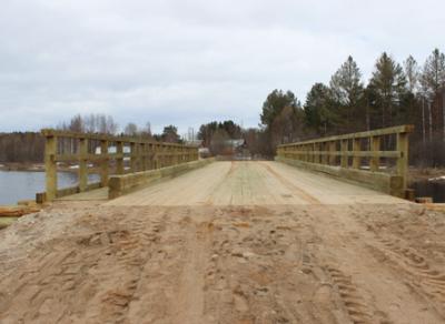 По требованию прокуратуры в Вытегорском районе построили новый мост