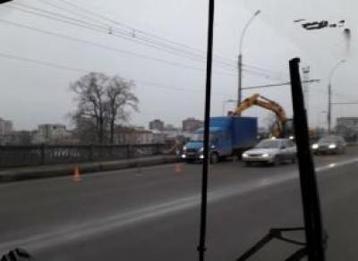 Ремонт Горбатого моста остановил Вологду в пробке