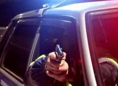 Полицейские применили огонь по пьяному водителю