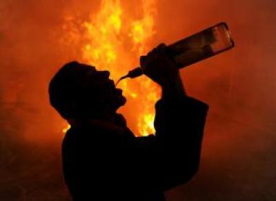 Вологжанин избил и сжег своего собутыльника
