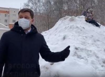 Мэр Вологды нашёл горы снега