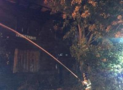 В Вологде снова сгорел расселенный дом