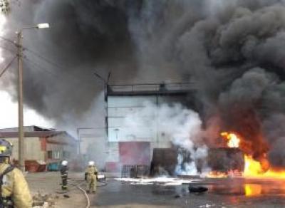 Под Череповцом произошел крупный пожар