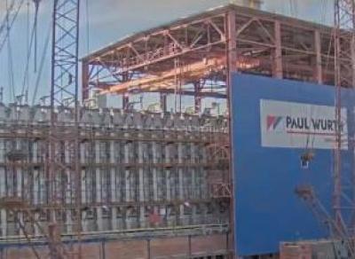 Конструкцию весом 1100 тонн передвинули в Череповце