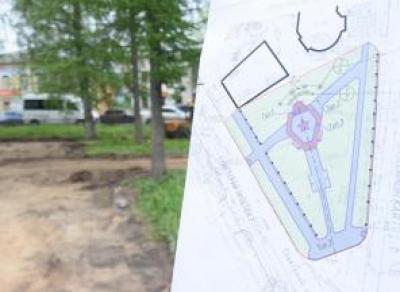 В Вологде благоустраивают Пионерский сквер