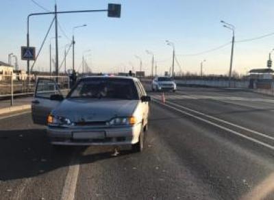 Бегущего пешехода сбили на трассе (видео)