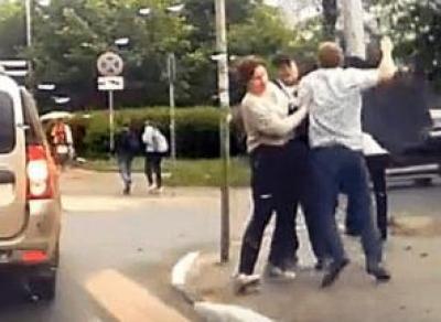 Водитель отпинал пешехода на ул. Горького