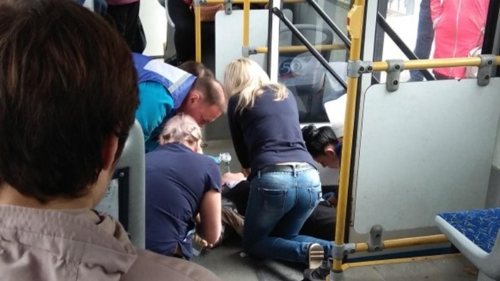 Череповчанка сломала ногу в автобусе