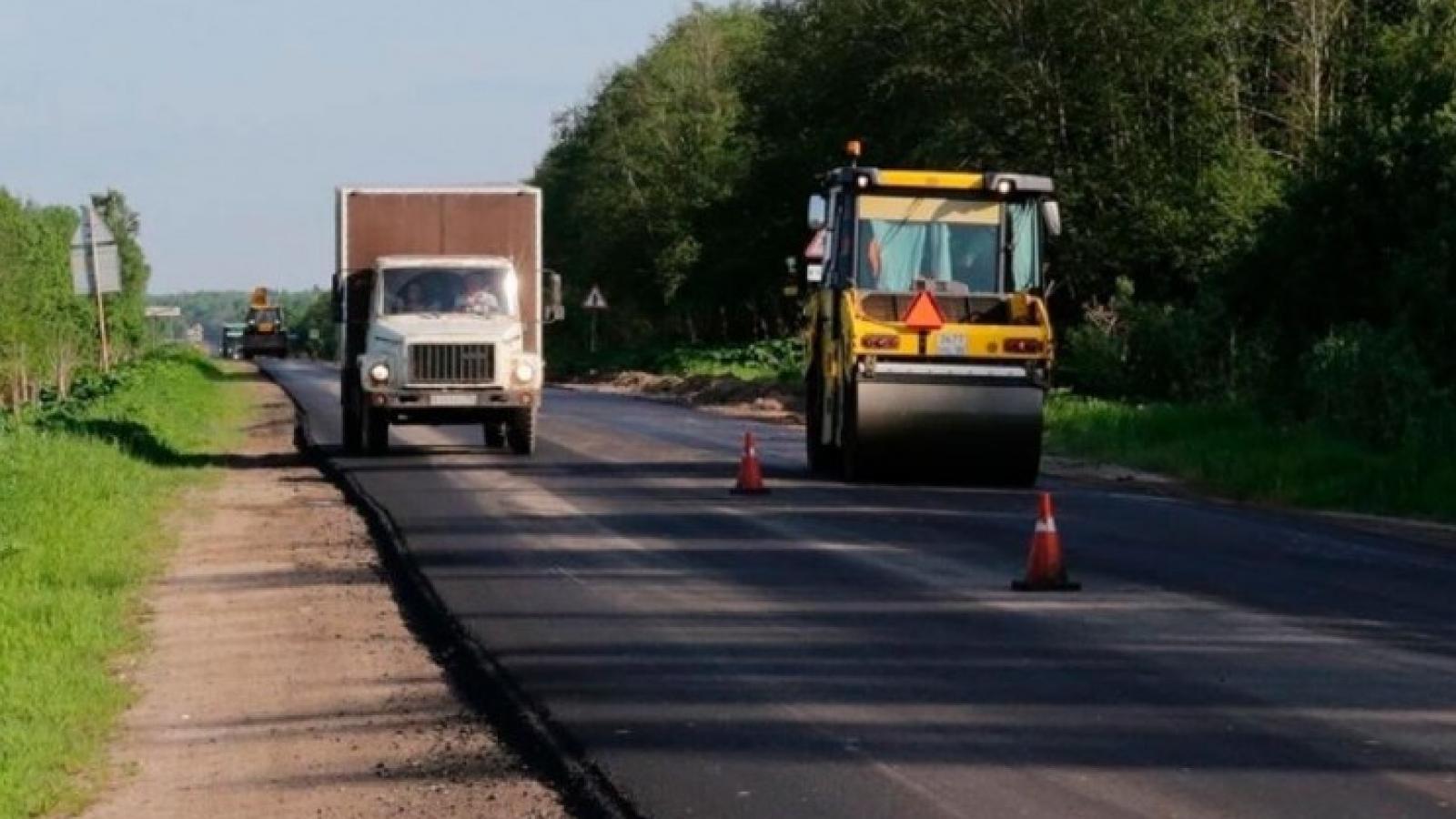 В Вологодском районе идёт масштабный ремонт трассы