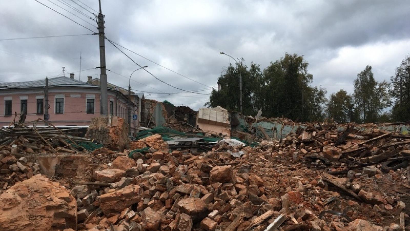 На месте снесенного здания «Труда» ничего не будут строить