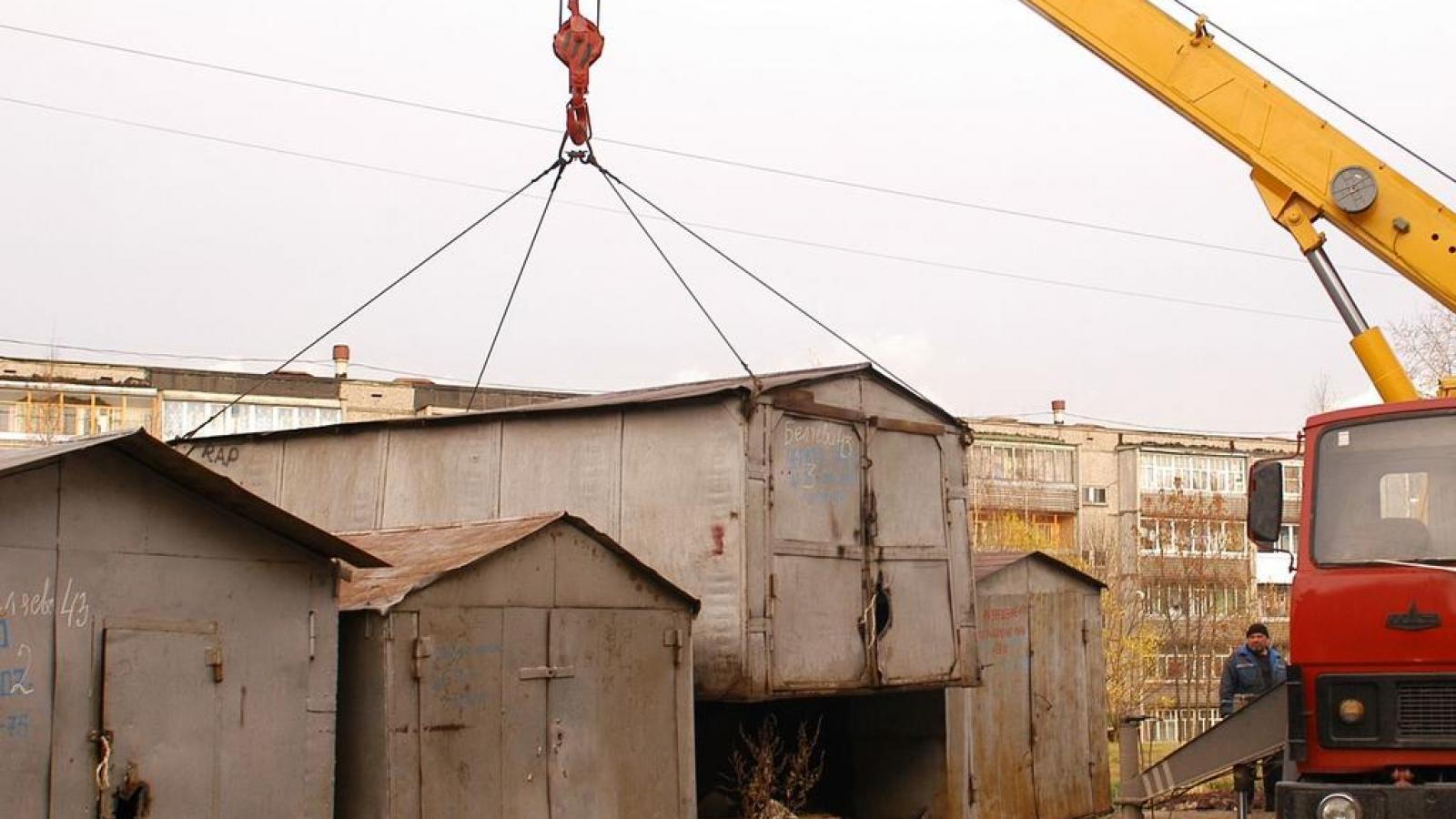 В Вологде незаконные гаражи будут увозить на Льнокомбинат