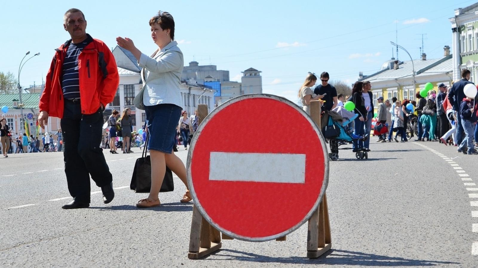 9 мая центр Вологды частично станет пешеходным