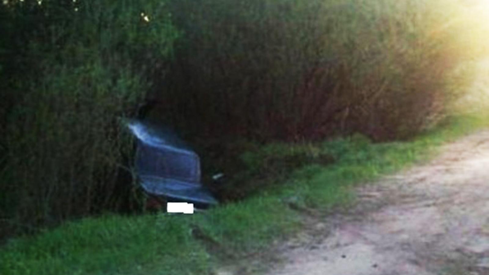 Под Вологдой автомобиль вылетел с трассы в кювет