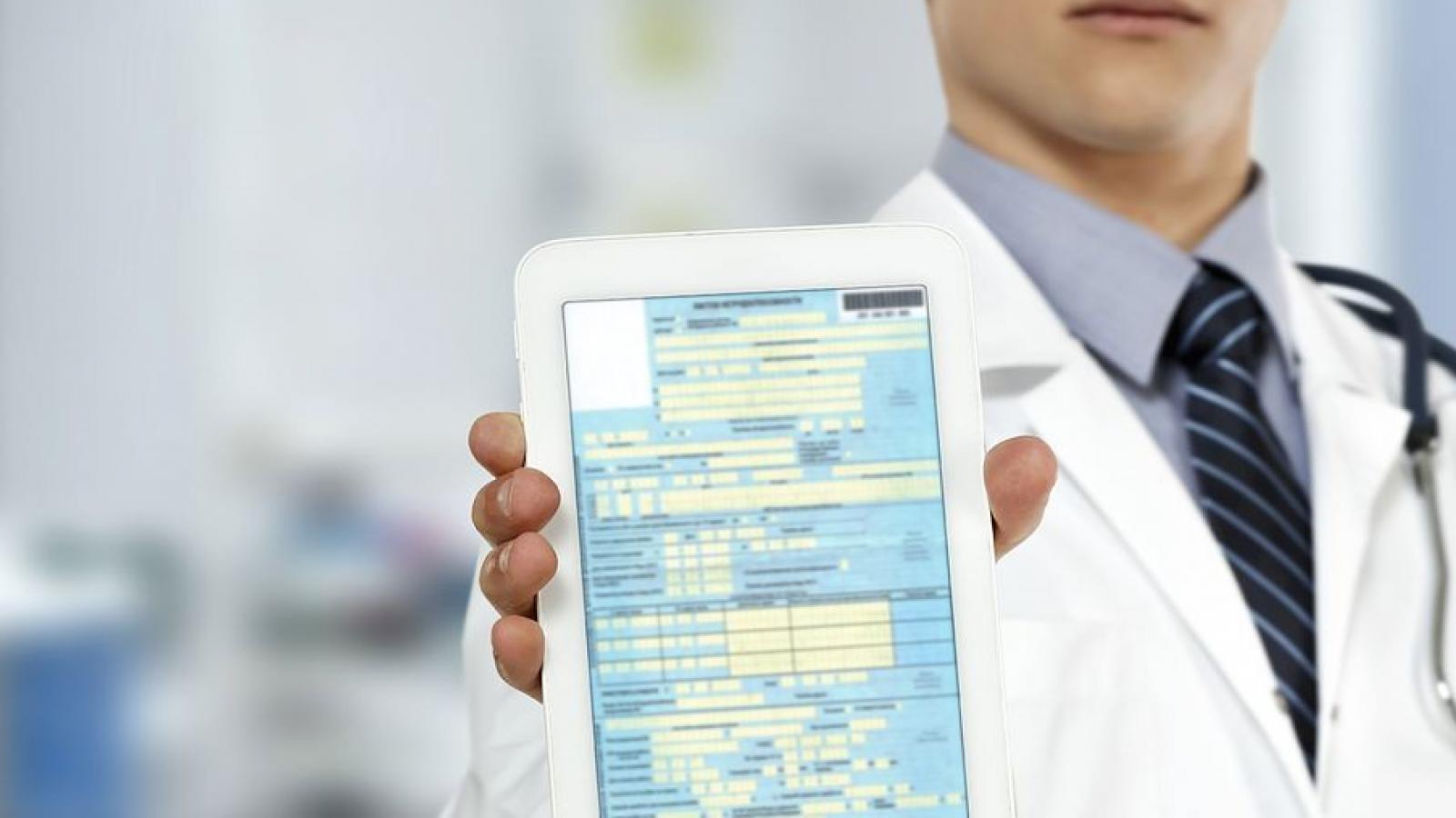 Большинство мед. учреждений переходят на электронные больничные