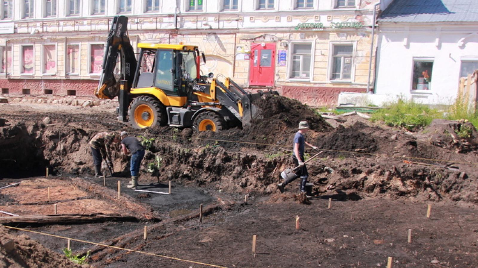 В Устюжне раскопали дома прошлой эпохи