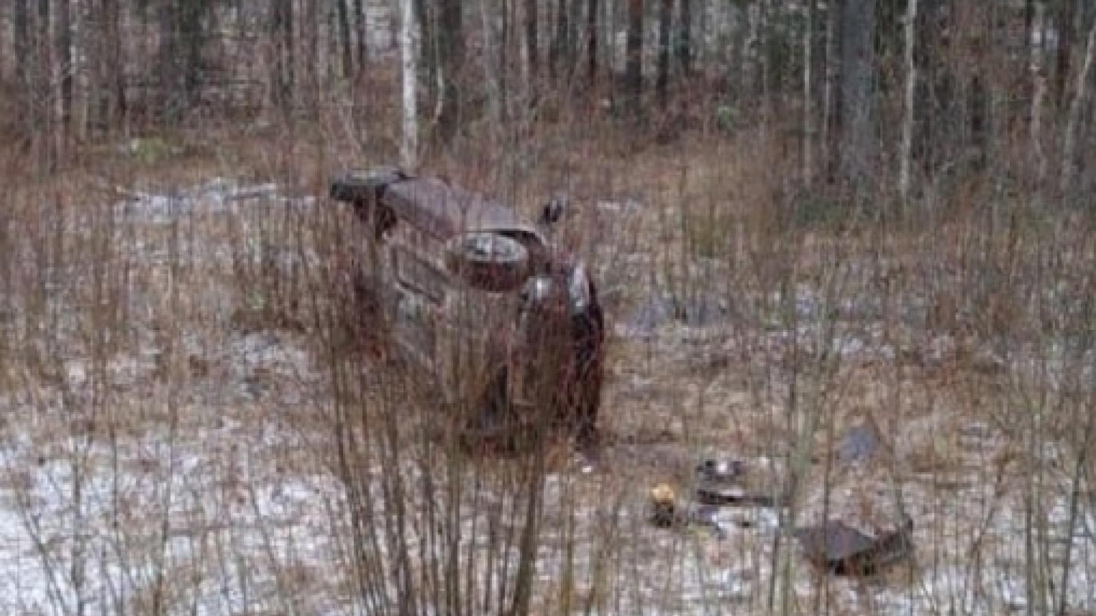Под Чагодой автомобиль вылетел в кювет