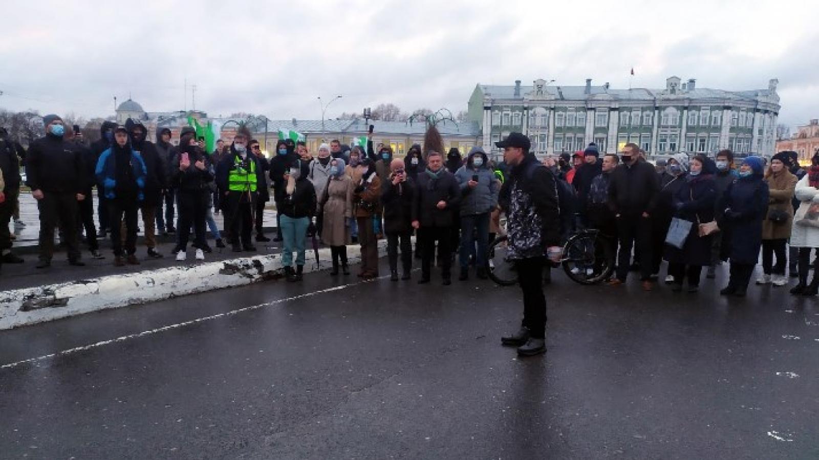 Несогласованный митинг прошёл в Вологде