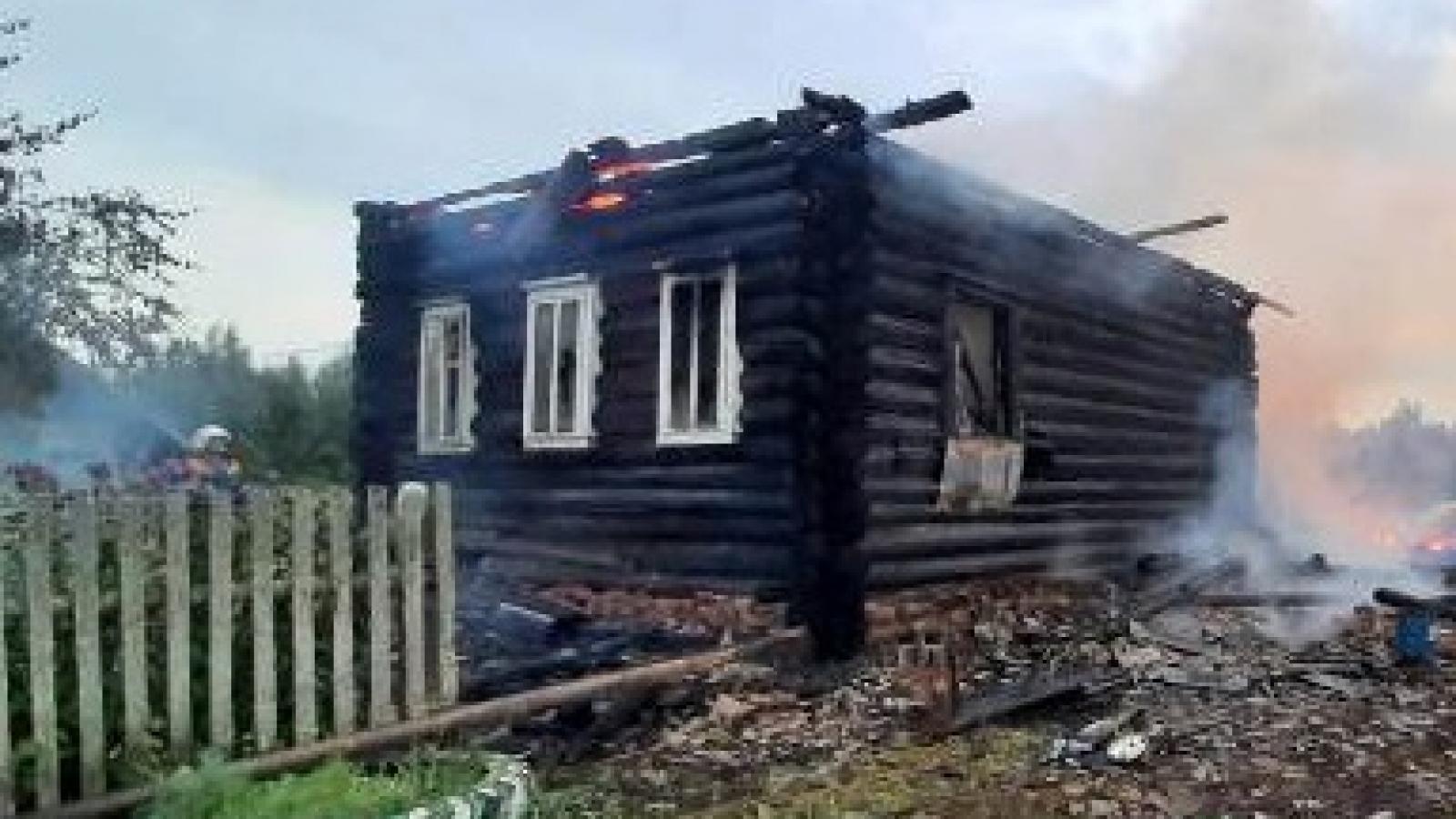 Два человека сгорели на Вологодчине