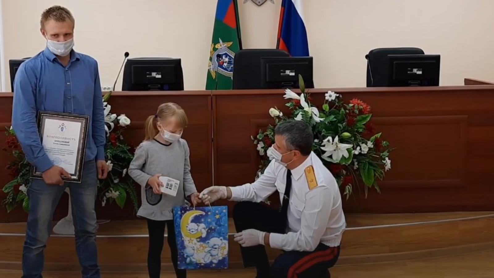 5-летнюю девочку наградили в Вологде